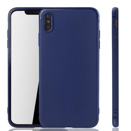 Apple iPhone XS Max Handyhülle Schutzcase Backcover Tasche Hülle Case Etuis Blau