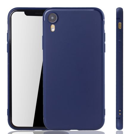 Apple iPhone XR Handyhülle Schutzcase Backcover Tasche Hülle Case Etuis Blau