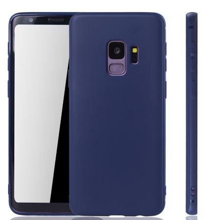 Samsung Galaxy S9 Handyhülle Schutzcase Backcover Tasche Hülle Case Etuis Blau
