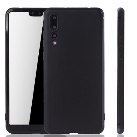 Huawei P20 Pro Handyhülle Schutzcase Backcover Tasche Hülle Case Etuis Schwarz