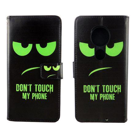 Motorola Moto G7 Tasche Handy-Hülle Schutz-Cover Flip-Case mit Kartenfach Don't touch my phone – Bild 3