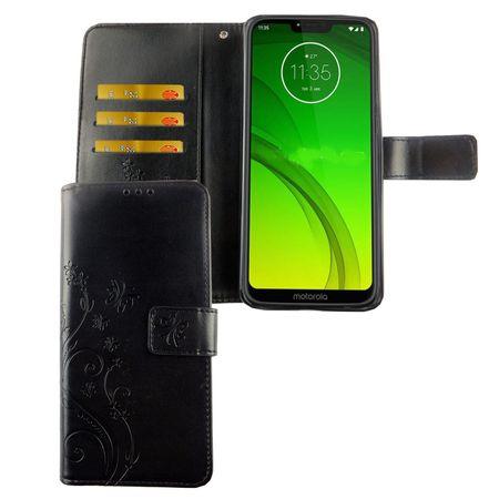 Motorola Moto G7 Handy-Hülle Schutz-Tasche Cover Flip-Case Kartenfach Schwarz