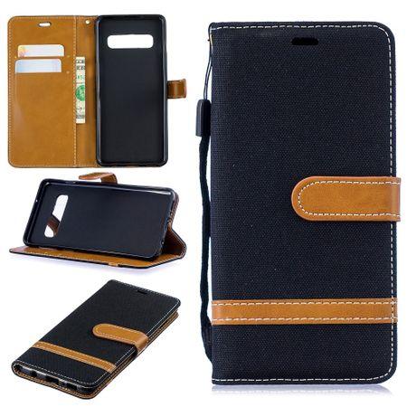 Samsung Galaxy S10 Handy-Hülle Schutz-Tasche Case Cover Kartenfach Etuis Schwarz