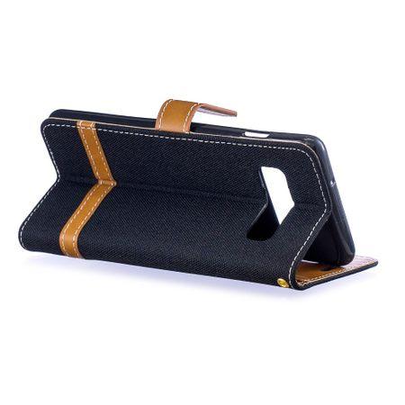 Samsung Galaxy S10 Handy-Hülle Schutz-Tasche Case Cover Kartenfach Etuis Schwarz – Bild 4