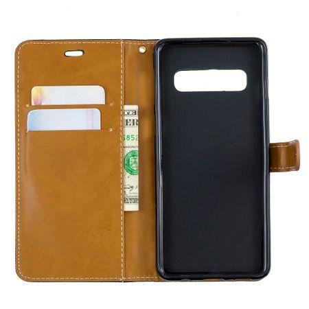 Samsung Galaxy S10 Handy-Hülle Schutz-Tasche Case Cover Kartenfach Etuis Schwarz – Bild 8