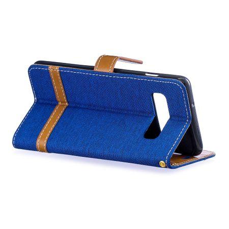 Samsung Galaxy S10 Handy-Hülle Schutz-Tasche Case Cover Kartenfach Etui Wallet Blau – Bild 4