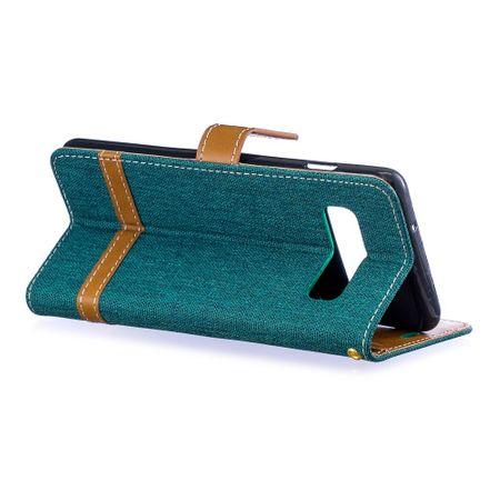 Samsung Galaxy S10 Handy-Hülle Schutz-Tasche Case Cover Kartenfach Etui Wallet Grün – Bild 4