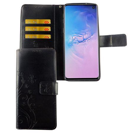 Samsung Galaxy S10 Handy-Hülle Schutz-Tasche Cover Flip-Case Kartenfach Schwarz