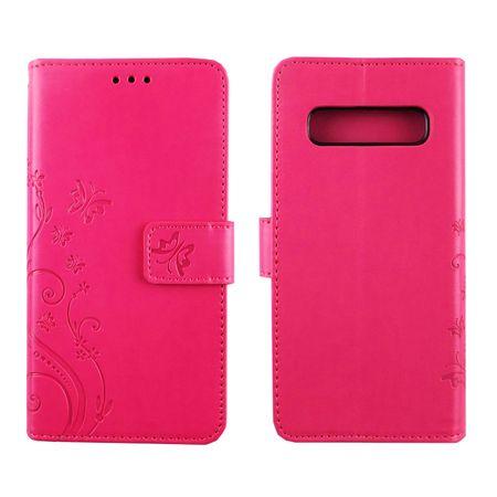 Samsung Galaxy S10 Handy-Hülle Schutz-Tasche Cover Flip-Case Kartenfach Pink – Bild 3