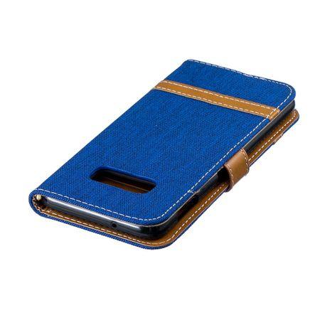 Samsung Galaxy S10e Handy-Hülle Schutz-Tasche Case Cover Kartenfach Etui Wallet Blau – Bild 7