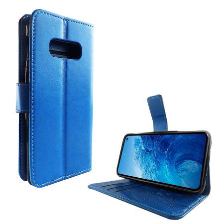 Samsung Galaxy S10e Handy-Hülle Schutz-Tasche Cover Flip-Case Kartenfach Blau – Bild 2