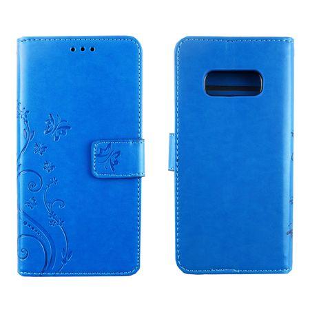 Samsung Galaxy S10e Handy-Hülle Schutz-Tasche Cover Flip-Case Kartenfach Blau – Bild 3
