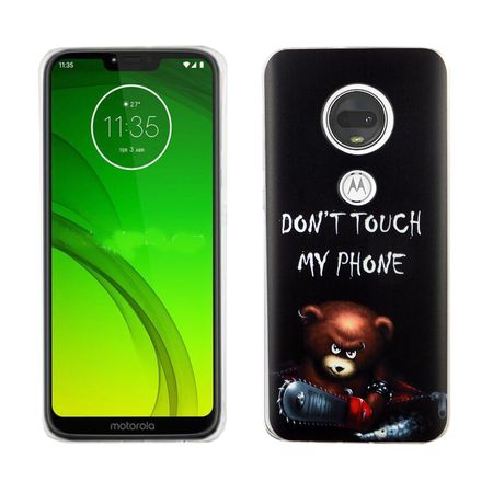 Motorola Moto G7 König-Shop Handy-Hülle Schutz-Case Cover Bumper Dont Touch My Phone Bär