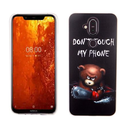 Nokia 8.1 / Nokia X7 König-Shop Handy-Hülle Schutz-Case Cover Bumper Dont Touch My Phone Bär
