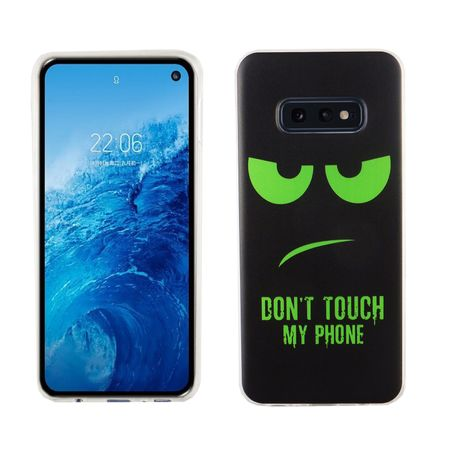 Samsung Galaxy S10e König-Shop Handy-Hülle Schutz-Case Cover Bumper Dont Touch My Phone Grün