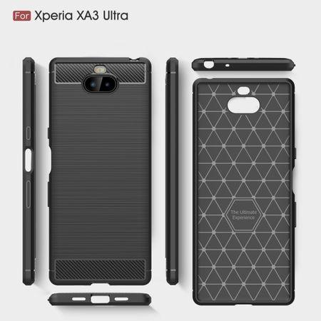 Sony Xperia 10 Plus TPU Case Carbon Fiber Optik Brushed Schutz Hülle Schwarz – Bild 9