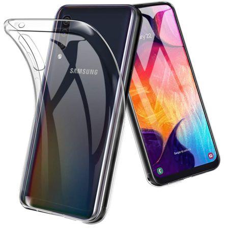 Samsung Galaxy A50 Handyhülle Case Hülle Silikon Transparent