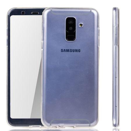 Samsung Galaxy A6 Plus 2018 Hülle Case 360 Handy Schutz Tasche Cover Full TPU Etui Transparent
