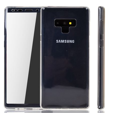 Samsung Galaxy Note 9 Hülle Case 360 Handy Schutz Tasche Cover Full TPU Etui Transparent