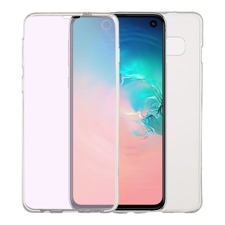 Samsung Galaxy S10 Hülle Case 360 Handy Schutz Tasche Cover Full TPU Etui Transparent