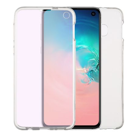 Samsung Galaxy S10e Hülle Case 360 Handy Schutz Tasche Cover Full TPU Etui Transparent