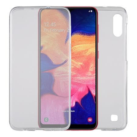 Samsung Galaxy A10 Hülle Case 360 Handy Schutz Tasche Cover Full TPU Etui Transparent