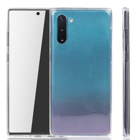 Samsung Galaxy Note 10 Hülle Case 360 Handy Schutz Tasche Cover Full TPU Etui Transparent