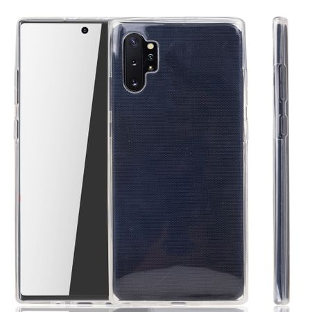Samsung Galaxy Note 10 Plus Hülle Case 360 Handy Schutz Tasche Cover Full TPU Etui Transparent