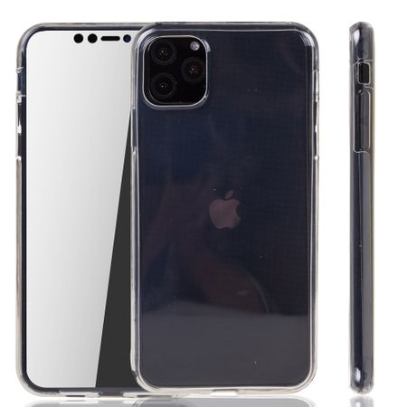 Apple iPhone 11 Pro Hülle Case 360 Handy Schutz Tasche Cover Full TPU Etui Transparent