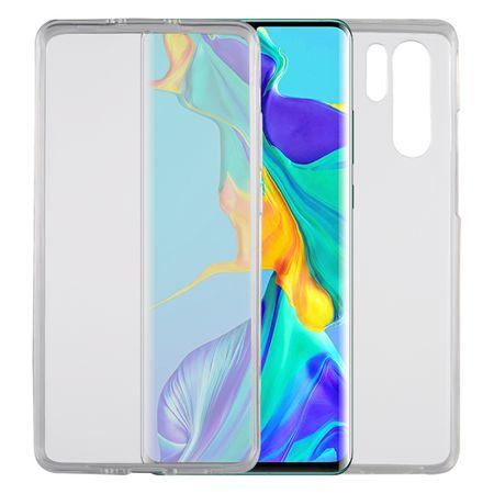 Huawei P30 Pro Hülle Case 360 Handy Schutz Tasche Cover Full TPU Etui Transparent