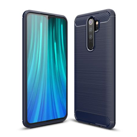 Xiaomi Redmi Note 8 Pro TPU Case Carbon Fiber Optik Brushed Schutz Hülle Blau