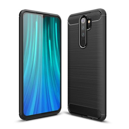 Xiaomi Redmi Note 8 Pro TPU Case Carbon Fiber Optik Brushed Schutz Hülle Grau