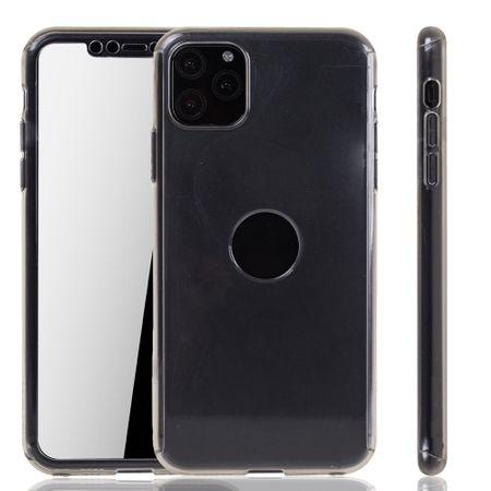 Apple iPhone 11 Pro Max Hülle Case Handy Cover Schutz Tasche Bumper Fullcover Panzer Schutz Glas Transparent