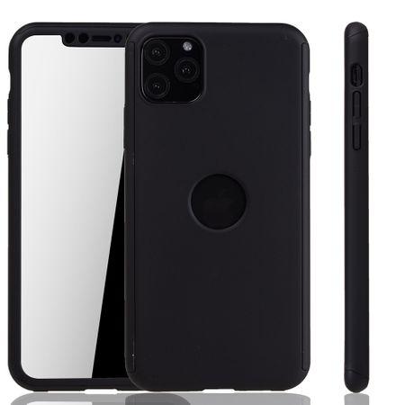 Apple iPhone 11 Pro Hülle Case Handy Cover Schutz Tasche Bumper Fullcover Panzer Schutz Glas Schwarz