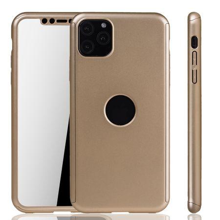 Apple iPhone 11 Pro Hülle Case Handy Cover Schutz Tasche Bumper Fullcover Panzer Schutz Glas Gold