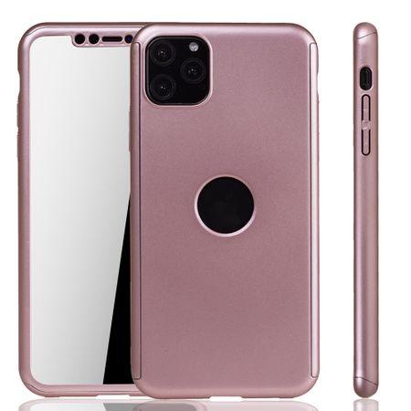 Apple iPhone 11 Pro Hülle Case Handy Cover Schutz Tasche Bumper Fullcover Panzer Schutz Glas Rose