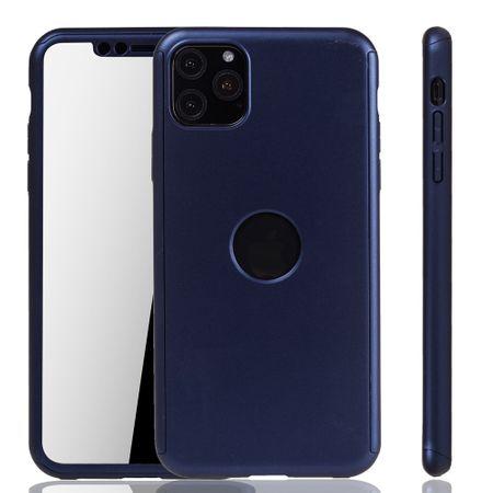 Apple iPhone 11 Hülle Case Handy Cover Schutz Tasche Bumper Fullcover Panzer Schutz Glas Blau