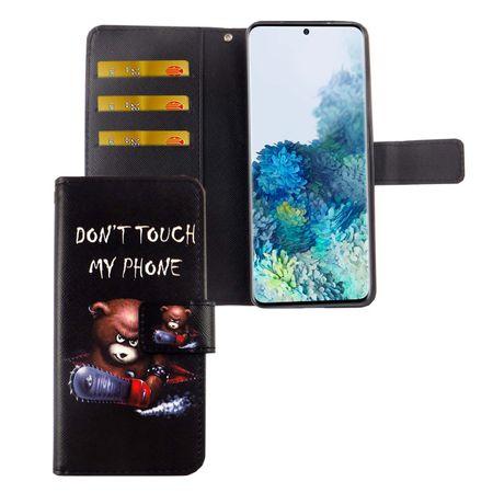 Samsung Galaxy S20 Tasche Handy-Hülle Schutz-Cover Flip-Case mit Kartenfach Don't touch my phone