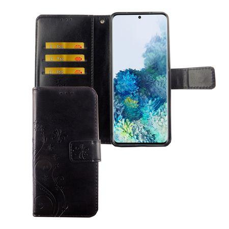 Samsung Galaxy S20 Handy-Hülle Schutz-Tasche Cover Flip-Case Kartenfach Schwarz