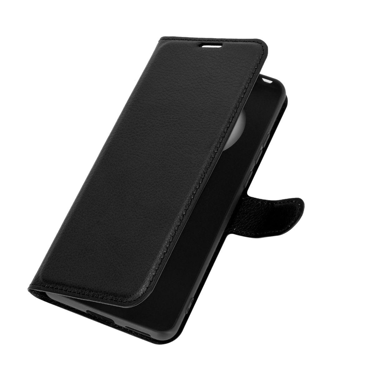 Huawei Mate 40 Pro Tasche Handy Hülle Schutz-Cover Flip-Case mit Kartenfach Schwarz