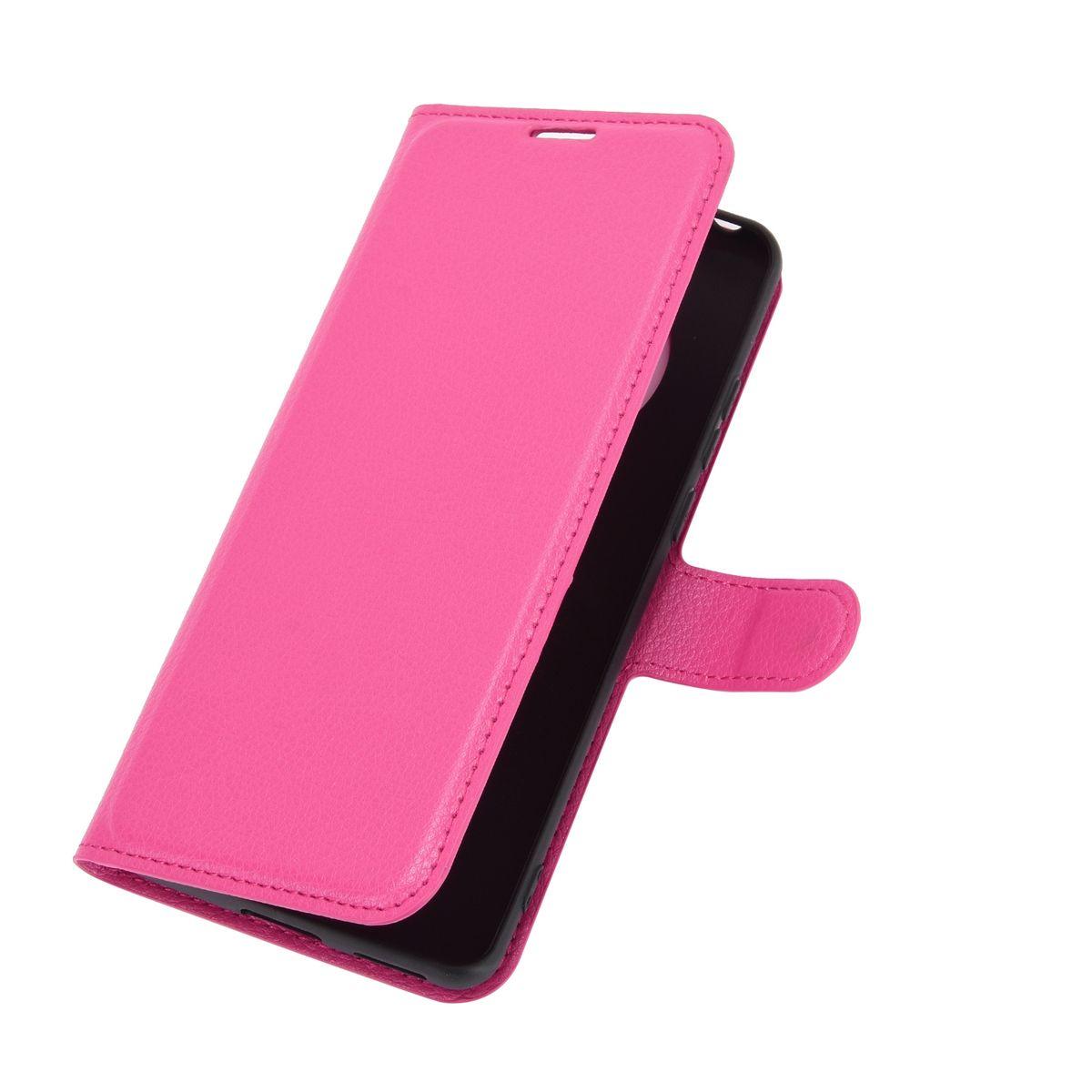 Huawei Mate 40 Pro Tasche Handy Hülle Schutz-Cover Flip-Case mit Kartenfach Rosa
