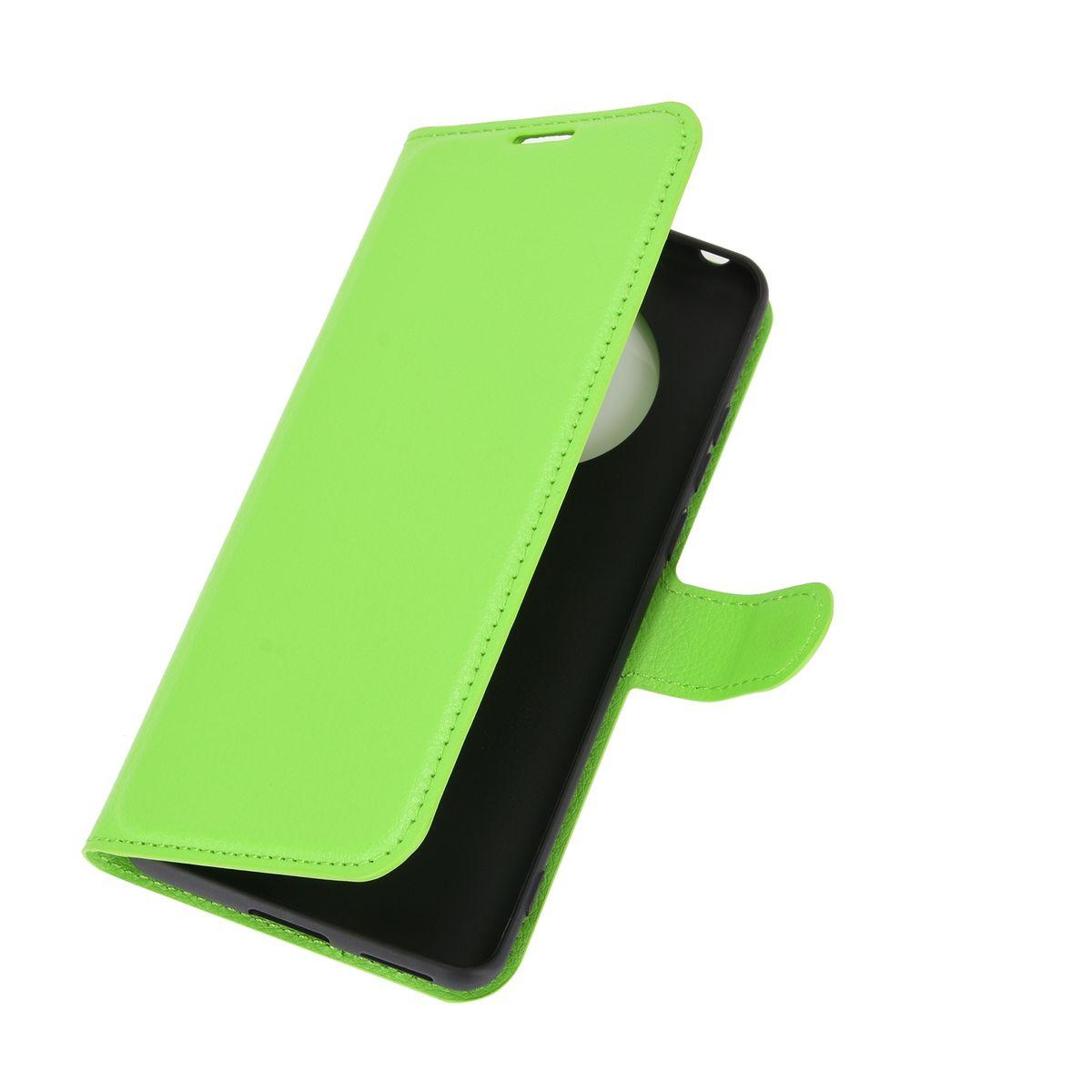 Huawei Mate 40 Pro Tasche Handy Hülle Schutz-Cover Flip-Case mit Kartenfach Grün