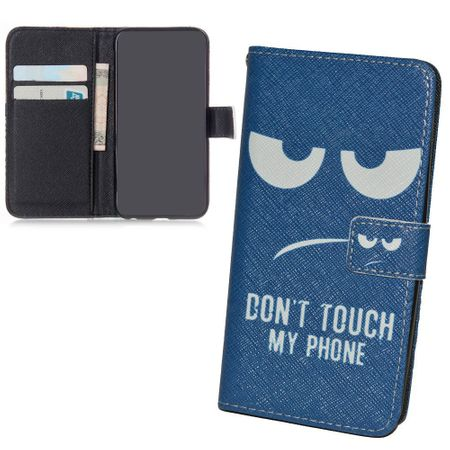 Dont Touch My Phone Handyhülle Huawei P8 Klapphülle Wallet Case – Bild 3