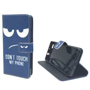 Dont Touch My Phone Handyhülle Huawei P8 Lite Klapphülle Wallet Case