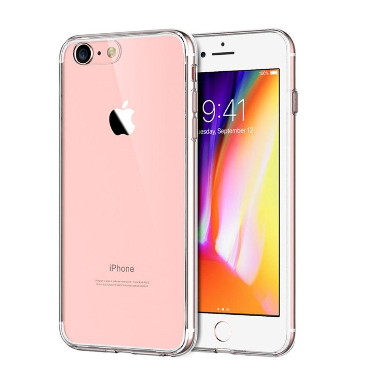 Apple iPhone 7 Transparent Case Hülle Silikon