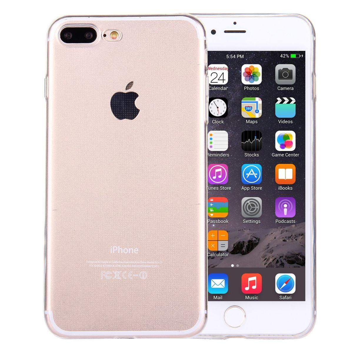 Apple iPhone 7 Plus Transparent Case Hülle Silikon
