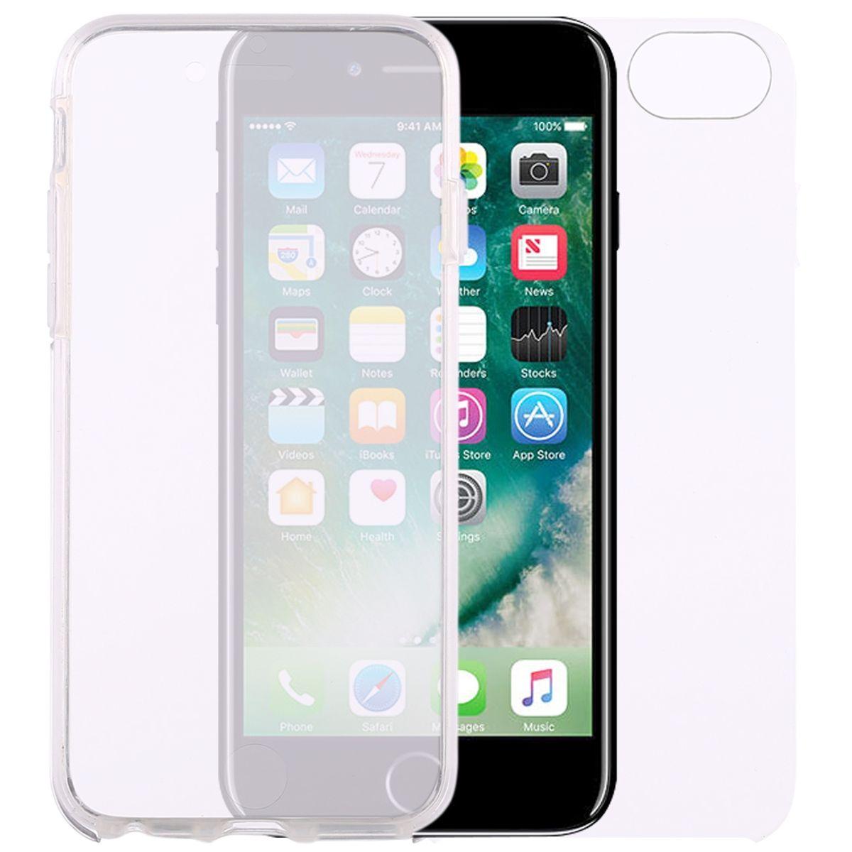 Crystal Case Hülle für Apple iPhone 8 Transparent Full Body
