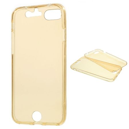 Crystal Case Hülle für Apple iPhone 8 Gold Rahmen Full Body