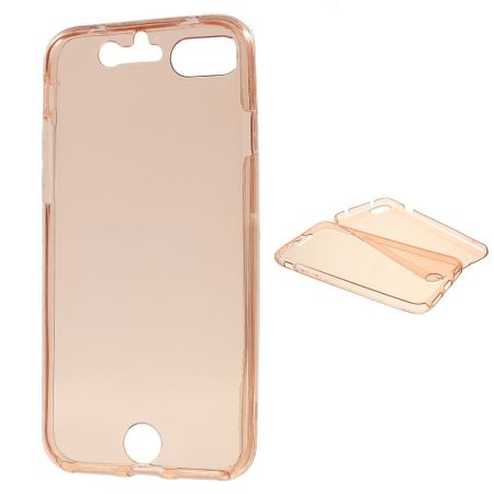 Crystal Case Hülle für Apple iPhone 8 Pink Rahmen Full Body