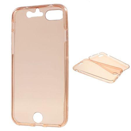 Crystal Case Hülle für Apple iPhone 8 Pink Rahmen Full Body